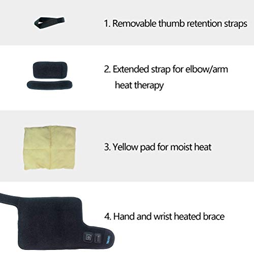 Creatrill and Heated Wrap with 3 with Pads Heat Arthritis, Tunnel Tendonitis, Sprains