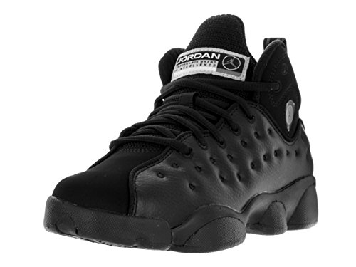 Nike Jordan Kids Jordan Jumpman Team II Bg Black/Black/Cool Grey/White Basketball Shoe 7 Kids - For Cool Jordans Kids