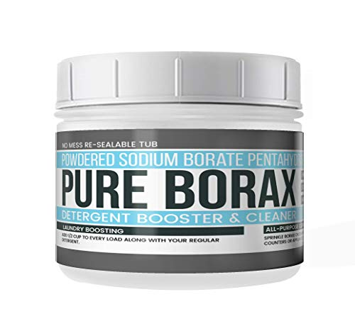 Borax Powder (2 lbs.)) by Earthborn Elements, Resealable Tub, All-Natural Multipurpose Cleaner, Detergent Booster, and Slime Ingredient
