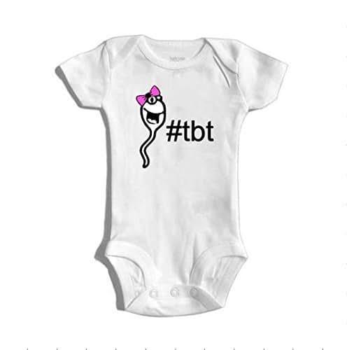 a2c323dc98 Amazon.com  Throw Back Thursday Girl Sperm bodysuit   onesie® outfit ...