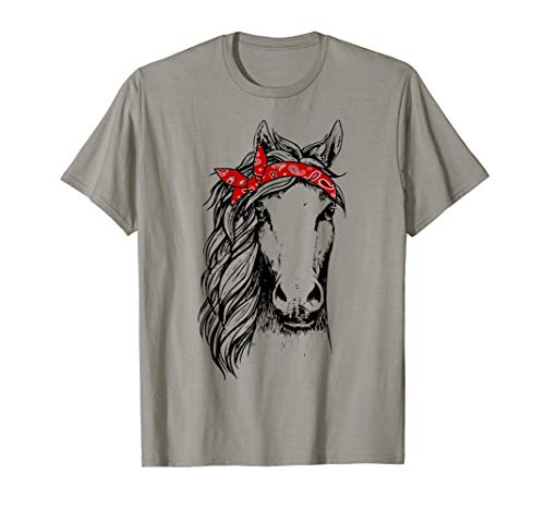 (Horse Bandana T Shirt for Horseback Riding Horse Lover)