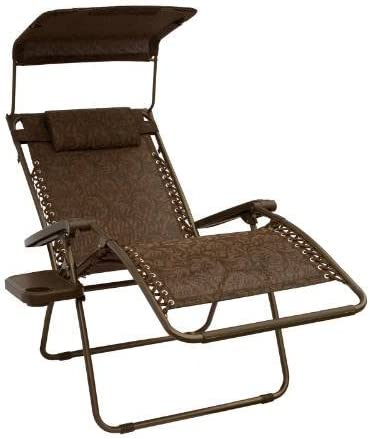 Bliss Hammocks Brown Jacquard Zero Gravity X-Wide Recliner