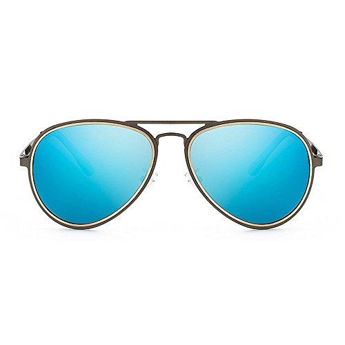 Hommes Métal Lunettes en Blue Plein Lunettes Ultra Cadre Métallique Soleil Sport Léger Objectif Polarisées en Couleur Yxsd air Black pour de de HD qxC4ZZXS