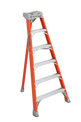 Ladder Fiber - Louisville Ladder 6-Foot Fiberglass Tripod Ladder, 300-Pound Capacity, Type IA, FT1506