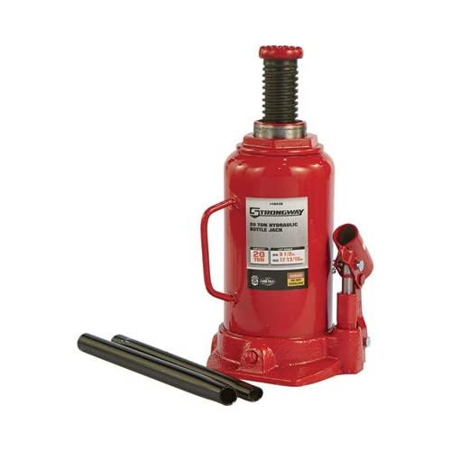 Strongway Hydraulic Bottle Jack - 20-Ton Capacity, 9 1/2in