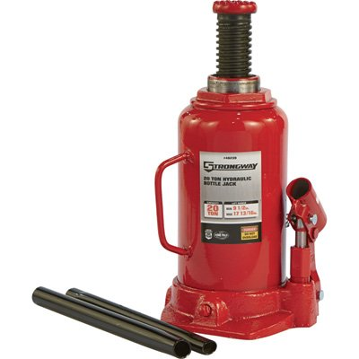 Strongway Hydraulic Bottle Jack - 20-Ton Capacity, 9 1/2i...