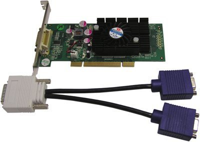 Jaton Corporation VIDEO-348PCI-LP NVIDIA GEFORCE 6200 / PCI /512MB DDR2 / DUAL VGA (DMS59) / LOW PROFILE SUPPORT (Jaton Video Card Video)