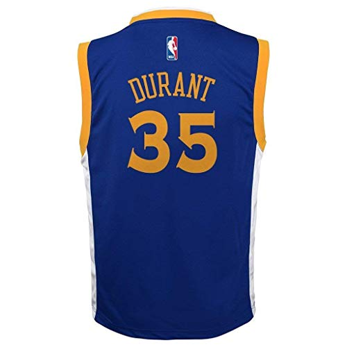 - Outerstuff Kevin Durant Golden State Warriors #35 Blue Youth Road Replica Jersey (Small 8)