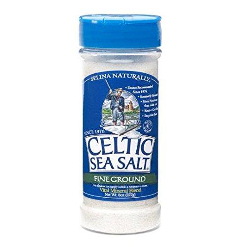 Celtic Sea Salt Fine Ground Shaker Jar, 8 Ounce, Pack of 2 by Celtic Sea Salt