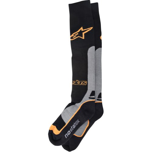 Alpinestars Pro Coolmax MX Socks-Orange-L/XL (Socks Mens Riding Gear)