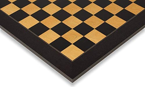 Black & Ash Burl High Gloss Deluxe Chess Board 2.375