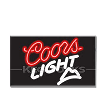 Coors light mountain neon bar sign amazon home kitchen coors light mountain neon bar sign mozeypictures Gallery