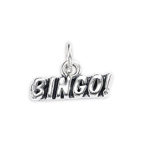 Sterling Silver Bingo Charm (Sterling Bingo Silver)