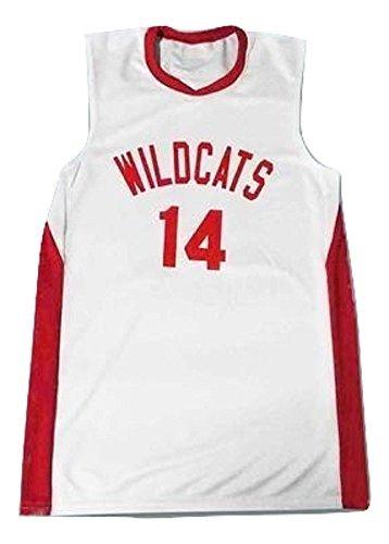 e074b9dfe3eb borizcustoms Zac E Troy Bolton 14 East High School Wildcats White Basketball  Jersey (58)