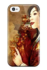 Tpu Fashionable Design Woman Artistic Rugged Case Cover For Iphone 4/4s New