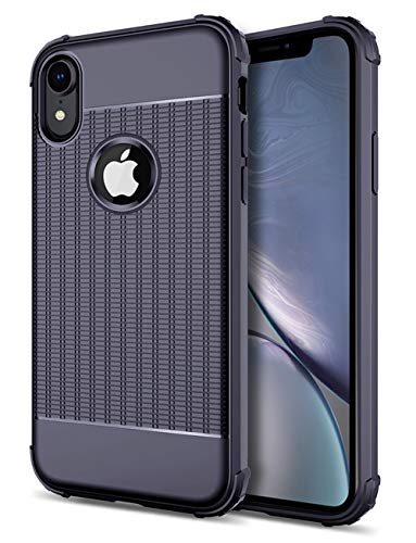 ction iPhone XR Case,Slim Shockproof Drop Proof Nonslip Soft Protective Silicone Bumper Case for iPhone XR 6.1 Inch (2018 Release),Textured Back Nice Grip,Blue ()