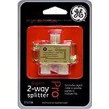 GE 37623 Digital 2-Way Coaxial Splitter - 5-2300 MHz(Certified Refurbished)