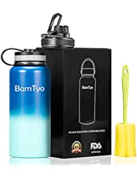 BamTyo 32 Oz Stainless Steel Thermos Water Bottle/Cups...
