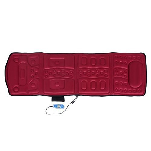 - Soozier 10-Motor Heated Vibration Massage Plush Mat - Red by Soozier