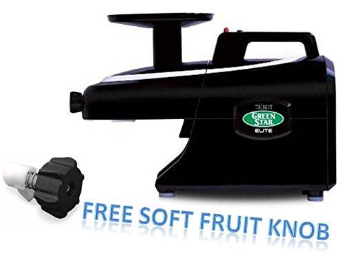 Tribest Green Star Elite BLACK GSE-5010 Jumbo Twin Gear Juice Extractor PLUS FREE SOFT FRUIT KNOB