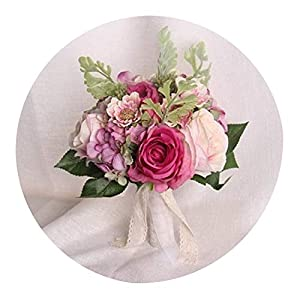 Romantic Wedding Flower Bridal Bouquet for Bride Bridesmaids White Red Pink Champagne Bouquet De Mariage,As Pic1,China 23