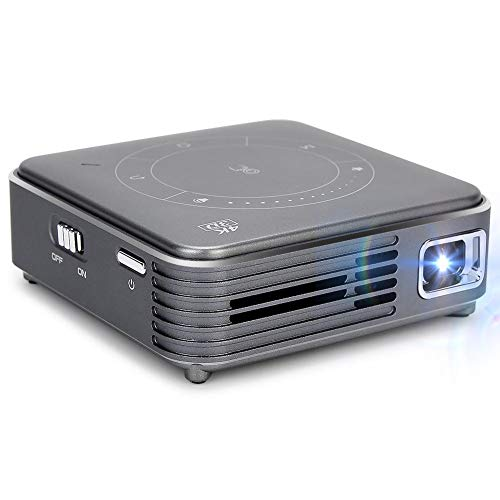 3D 4K Decoding Pocket Projector, Home Theater Projector with Tripod, DLP Display Technology Universal Multimedia Video…