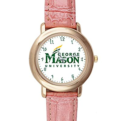 G-Store Easy to Read CSDD0630671 George Mason University Display Pink Leather Analogue Dial Watch