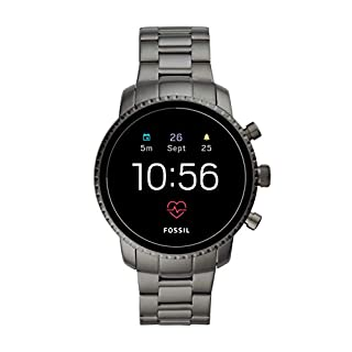 Fossil Men's Gen 4 Explorist HR Heart Rate Stainless Steel Touchscreen Smartwatch, Color: Gunmetal (Model: BQD1001) (B07XMJJFY4) | Amazon price tracker / tracking, Amazon price history charts, Amazon price watches, Amazon price drop alerts