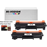 HI-VISION HI-YIELDS Compatible [NO CHIP] TN760 Toner Cartridge HighYield 3000pages Printer use with HL-L2350DW/L2390DW/L2395DW/L2370DW DCP-L2550DW MFC-L2710DW/L2750DW HL-L2370DWXL MFC-L2750DWXL(2Pk)