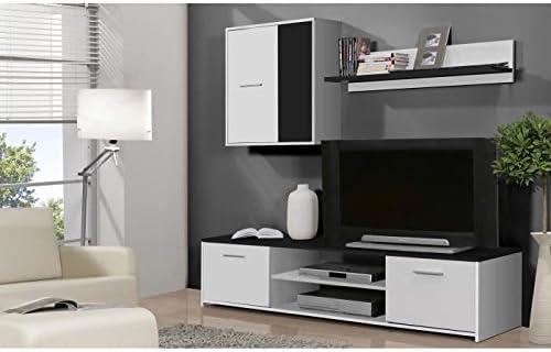 matériau sélectionné 100% authentifié qualité authentique Finlandek meuble tv mural katso 160cm blanc et noir: Amazon ...