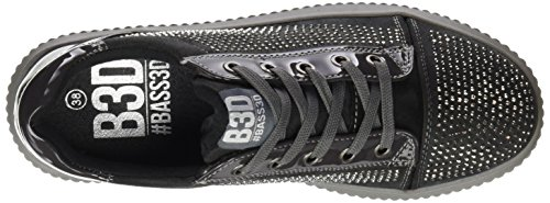 041378 bass3d Gris Gris Grey Trainers Black Women's v81wP5qO
