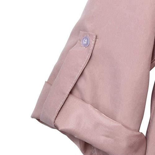 Girocollo Girocollo Girocollo Aperte Maniche Maniche Maniche Oudan Maniche Dimensione a Cardigan Lunghe Lunghe Maniche Rosa da Large Colore con Rosa con Lunghe e Donna rr18qn7wv