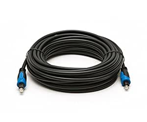BlueRigger Digital Optical Audio Toslink Cable (15 feet)- CL3 Rated