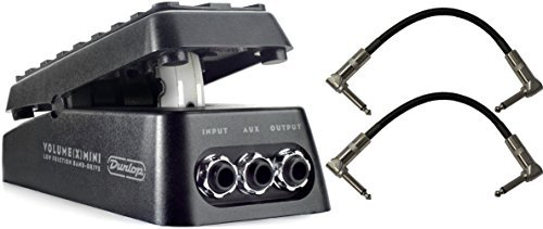 Dunlop DVP4 Volume X MINI Pedal for Electric Guitars with Pedal Patch Cables