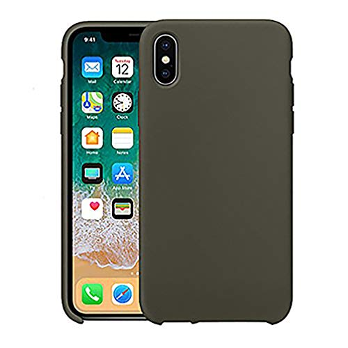 Anyos iphoneX Case,Ultra-Thin Liquid Silicone Soft Skin Cover for Apple iphoneX 10 (Olive Green)