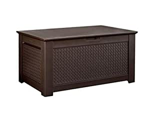 Amazon Com Rubbermaid Patio Chic Outdoor Storage Deck Box