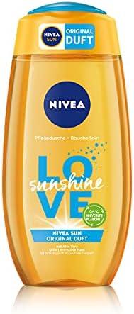 NIVEA Love Sunshine verzorgende douchegel 250 ml zomerse douchegel met alo vera voor merkbaar zachte huid douche met de unieke Nivea Sun zonnecrème geur