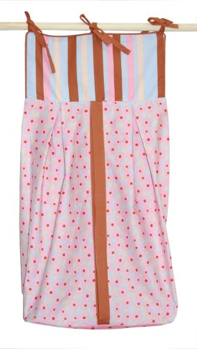 Tadpoles Field of Flowers Diaper Stacker in Pink and Periwinkle