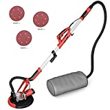 Goplus 800W Electric Drywall Sander Adjustable Variable Speed w/Vacuum & LED Light Dust Collector
