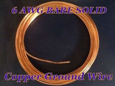 6 Gauge Solid Bare Copper Ground Wire ( 250 Feet ): Amazon.com ...