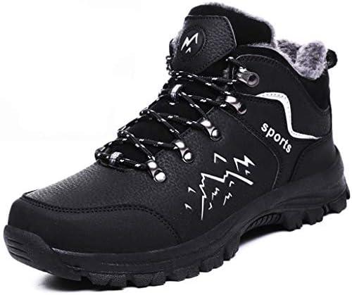 マウンテンブーツアウトドアハイキングシューズにロッククライミングを実行している靴男性トレッキングシューズハイウエストスポーツ世帯ウォーキングアンチスリップクライミング (Color : Black, Size : 9.0UK)