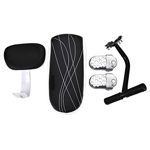 Cocoarm Bicycle Rear Seat, Child Safety Cushion Armrest Handrail Rear Feet Pedals Sets Accessory