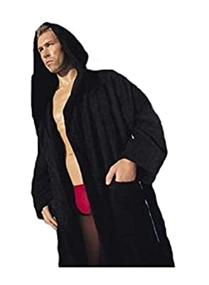 Spa and Resort Hooded Terry Bathrobe. 9 Colors Available. Full Length 51 Inches