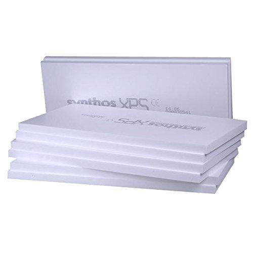 1,5m/² XPS Sockeld/ämmplatte 100mm SYNTHOS PRIME G WLG 032 mit 300 kPa extrem druckfest