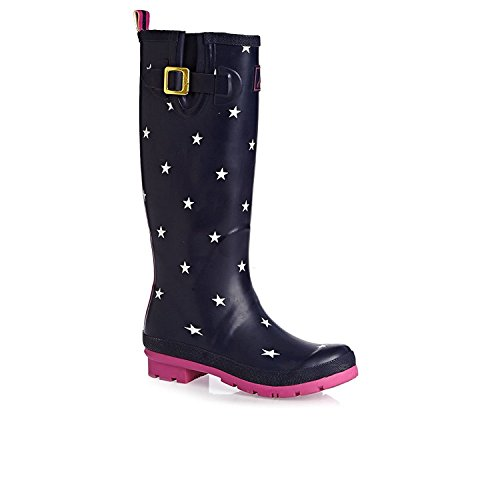 Joules-Womens-Welly-Navy-Star-Print-Rain-Boot-5-US
