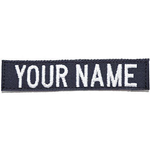 Custom Nylon/Cotton Webbing Name Tape with Hook Fastener - Navy ()