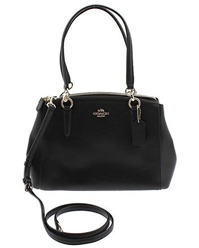 COACH Crossgrain Leather Christie Carryall Shoulder Bag Handbag Black 36606 by Coach