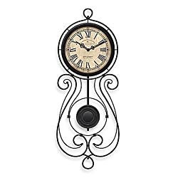 FirsTime® Chateau Betton Pendulum Wall Clock, Aged Black Finish