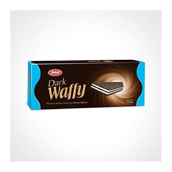 Dukes Dark Waffy Premium Vanilla Flavoured Choco Waffers, 150g