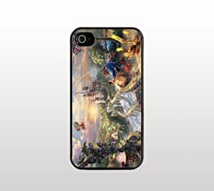 Beauty and the Beast Art iPhone 5 5s Case - Hard Plastic Snap-On Custom Cover - Black